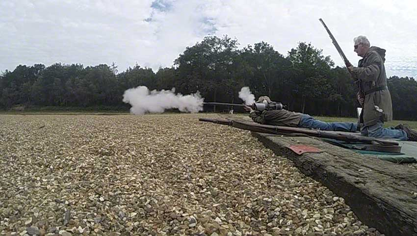 17. Flintlock: smoke continues to emerge.