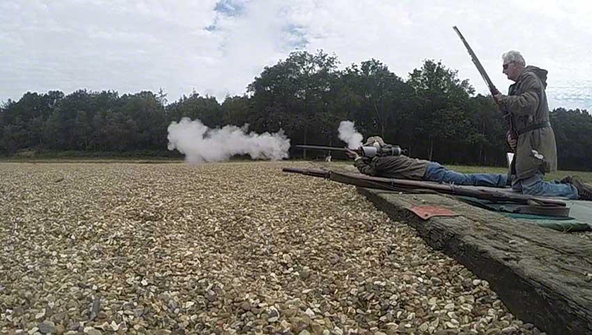 18. Flintlock: smoke dwindling.