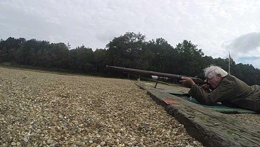 Enfield Volunteer Rifle: Hammer in mid-fall.
