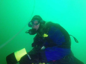 Seasearch diver recorder off Waldrons