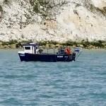 Watchful fishing boat near Beachy head