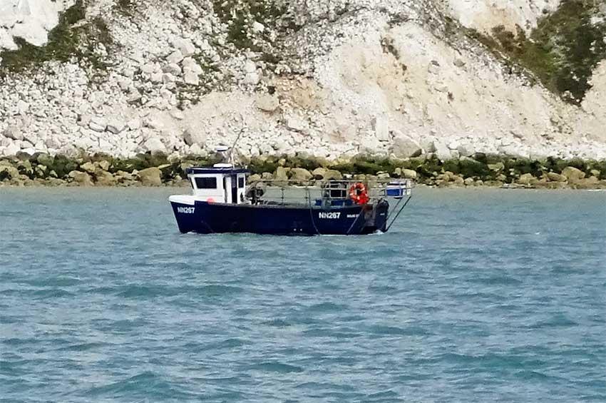 View of fishingboat E of Beachy Head