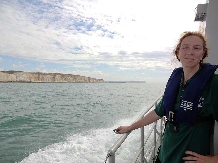 Watchful cliffs approach Newhaven Henri