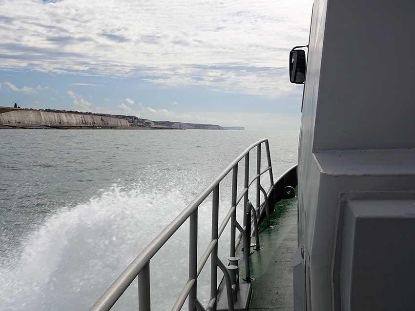 Watchful cliffs approach Rottingdean