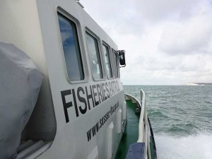 Fisheries protection vessel Watchful off Beachy head