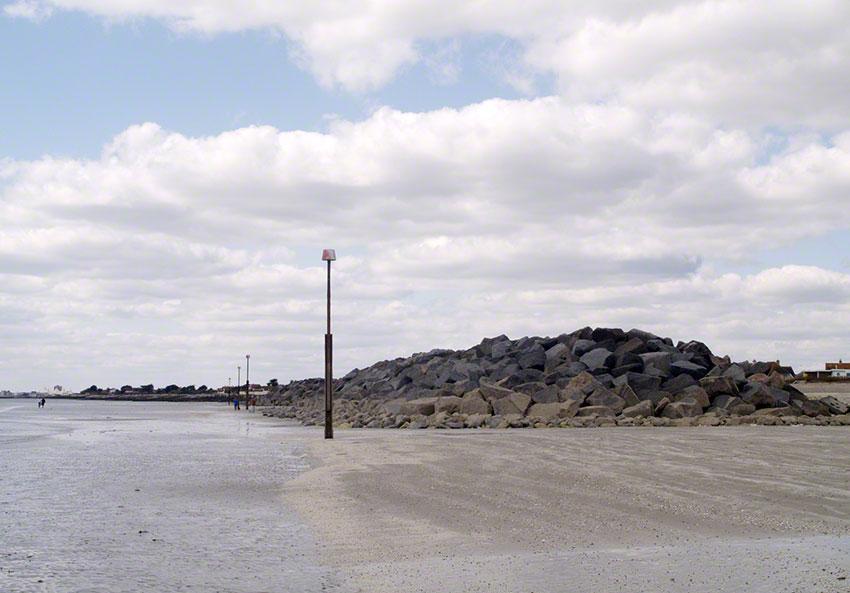 Elmer rock groyne looking west