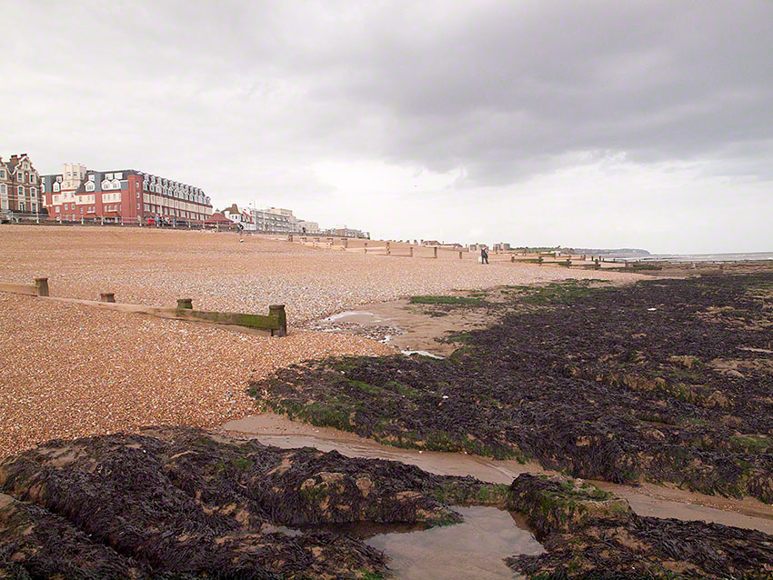 Bexhill, by sailing club, view west